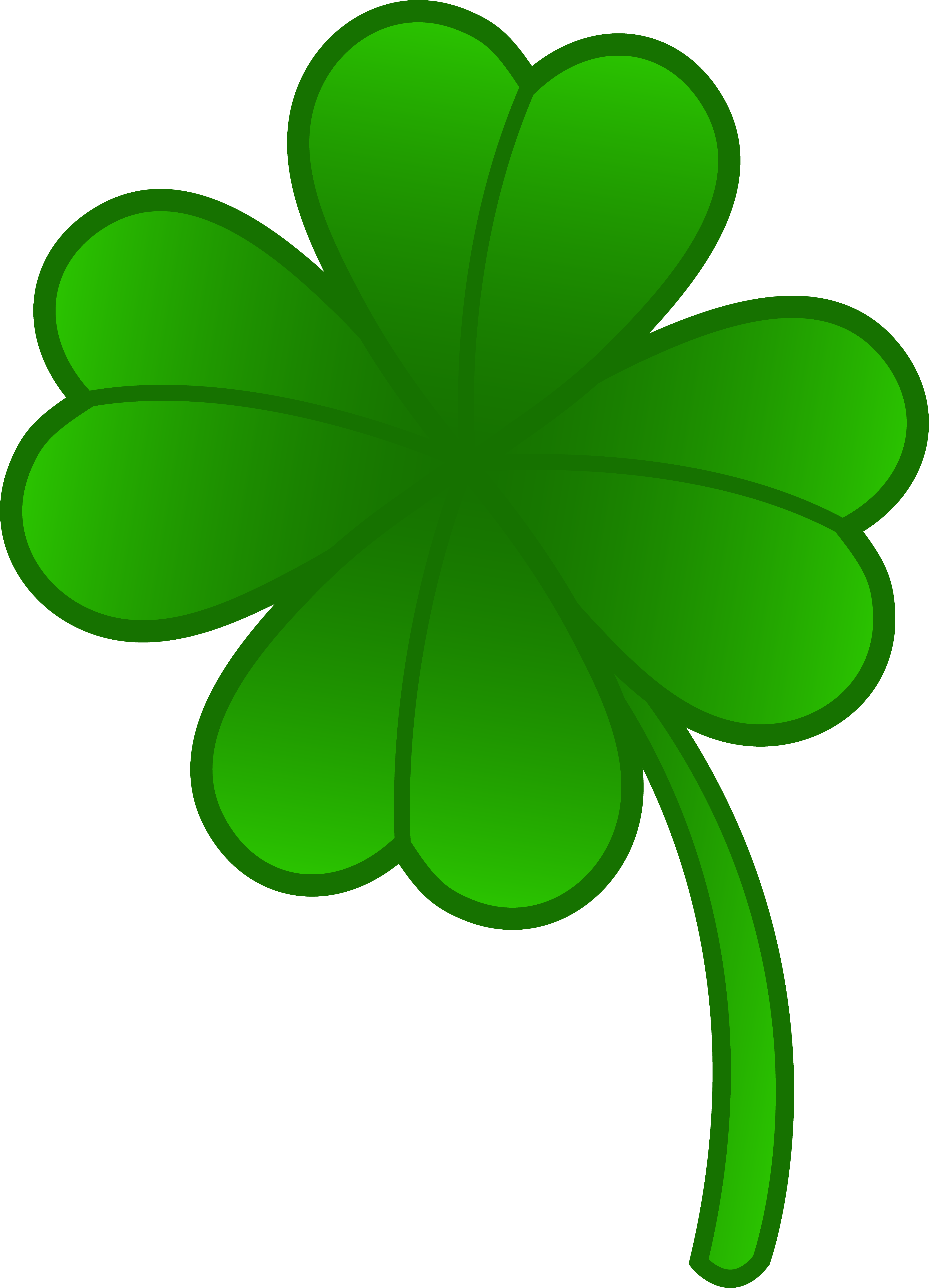 4865x6742 Leaf Clover Clipart