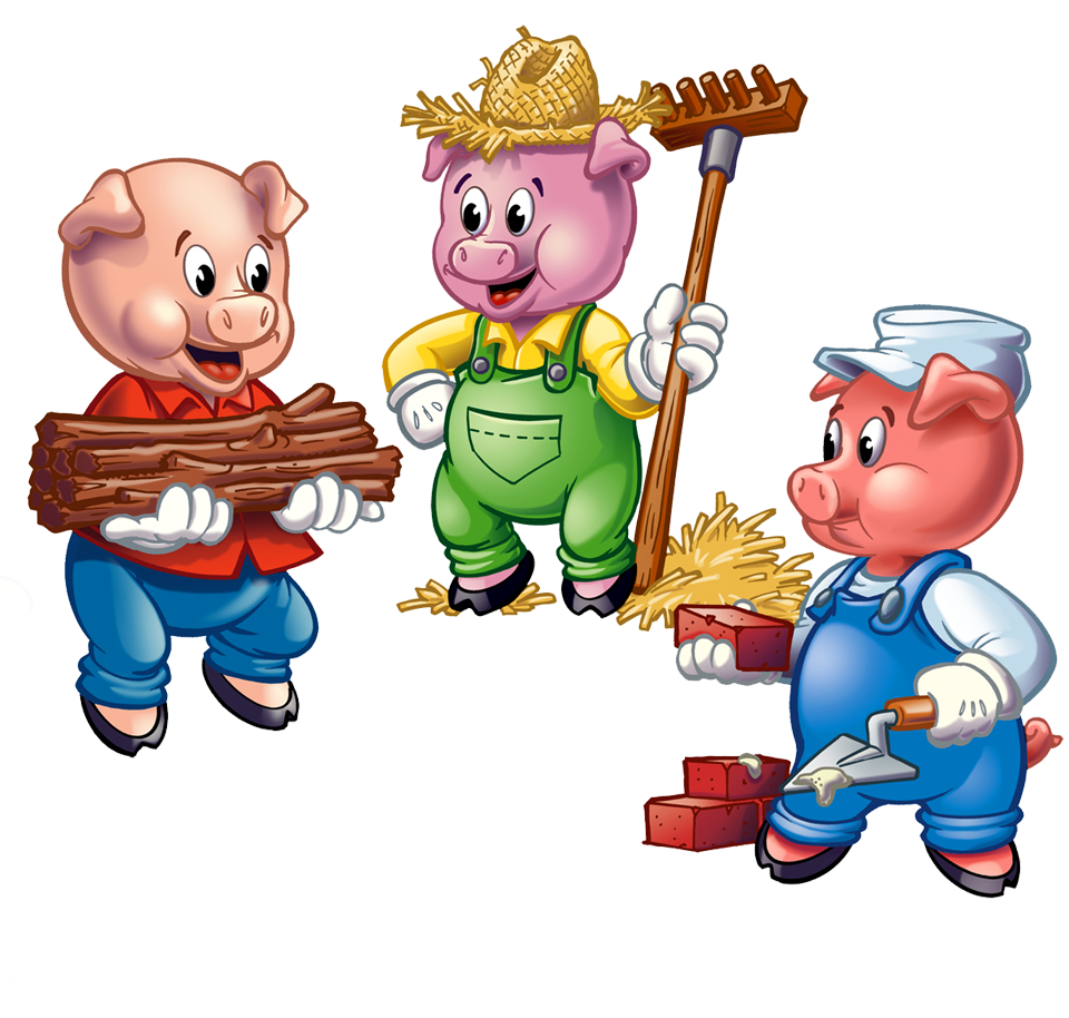 960x914 Clipart Little Pig Three