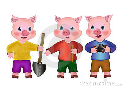 400x283 Three Little Pigs Clip Art