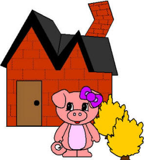 295x328 Three Little Pigs House Clipart