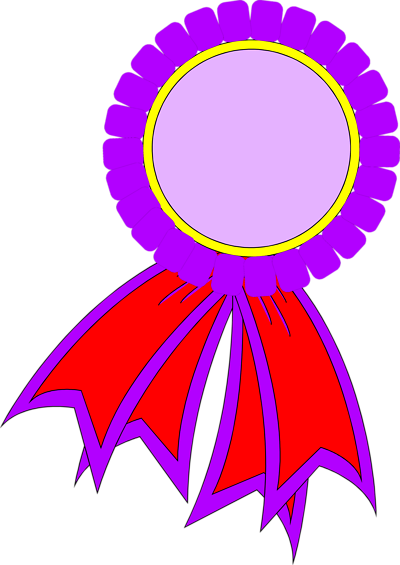 400x565 Prize Ribbons Clipart