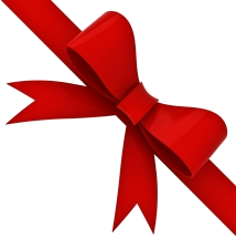 214x215 Red Ribbon Three Isolated Stock Photo By
