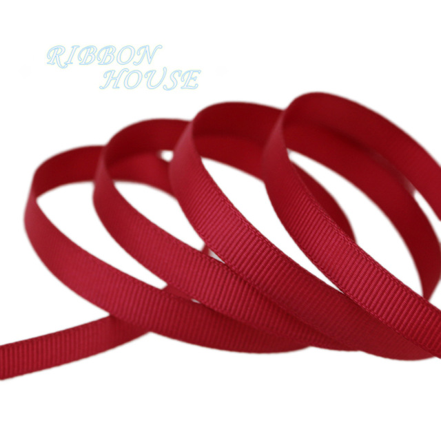 640x640 10 Metersroll) 38 10mm Wine Red Grosgrain Ribbon Wholesale Gift