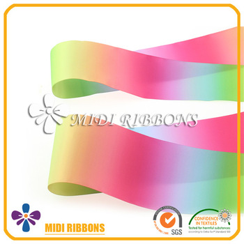 350x350 3'' Wholesale Ombre Ribbon Colorful Rainbow Ribbon Double Side