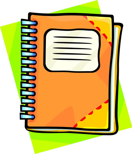 429x500 Orange clipart notebook