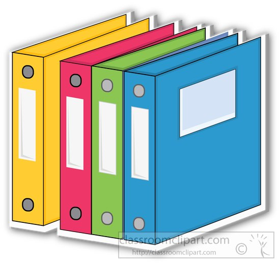 550x520 Three ring binder clip art clipart