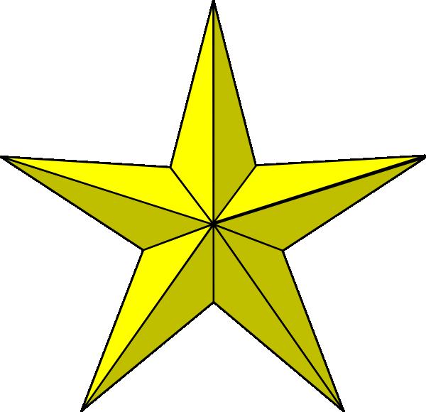 600x580 Gold Star Clipart
