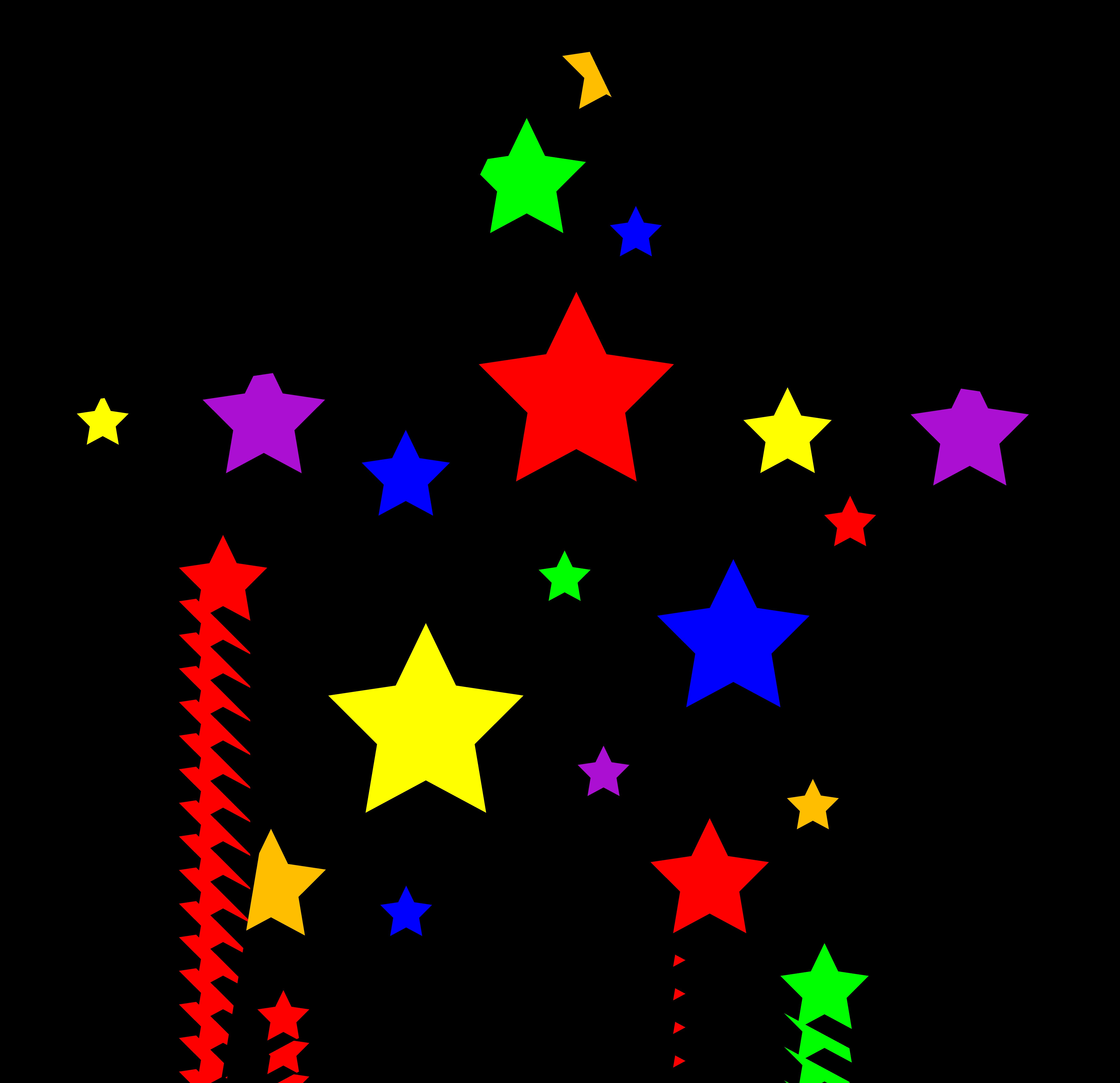 6598x6383 Shooting Star Clipart Colourful Star