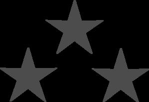 299x204 Three Gray Stars Clip Art