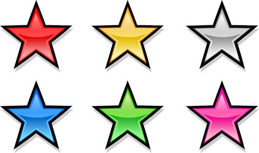 531x314 Clip Art Hoard Metallic Stars!
