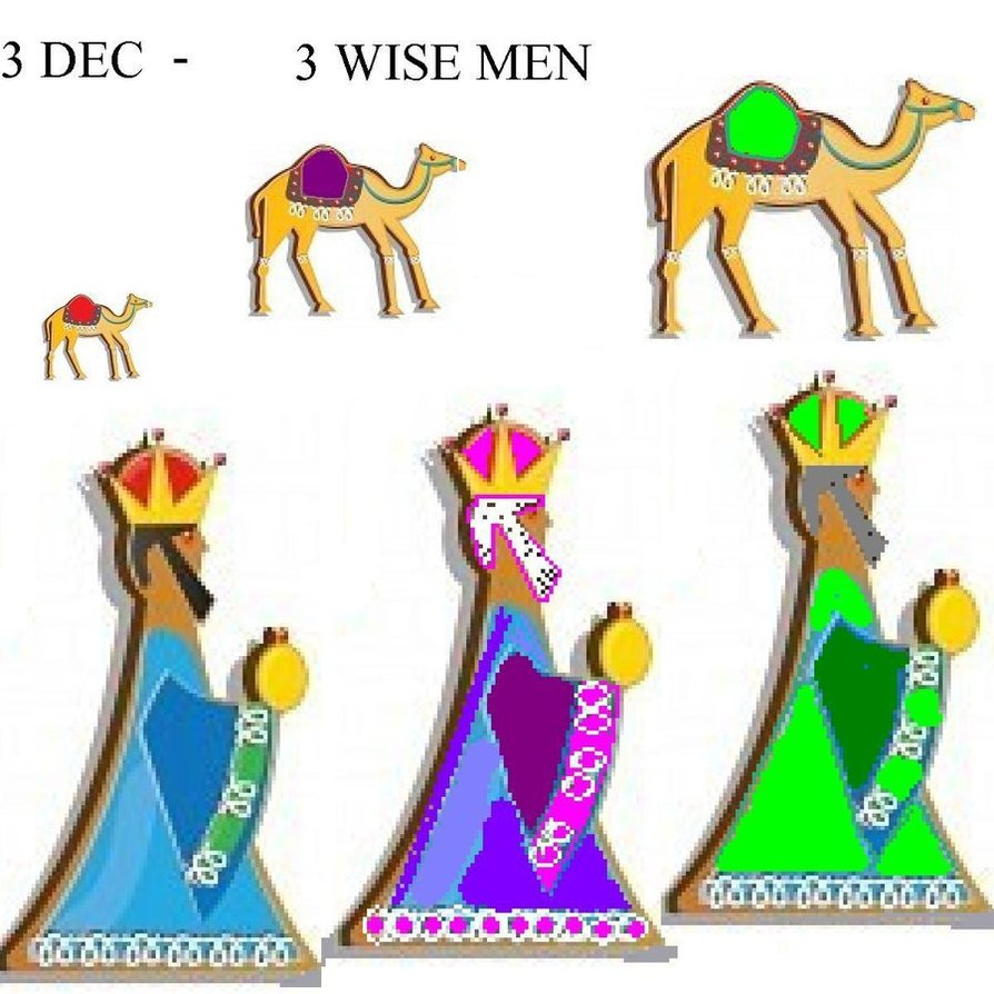 894x894 3 Wise Men 3 December Advent By Totaldrawn