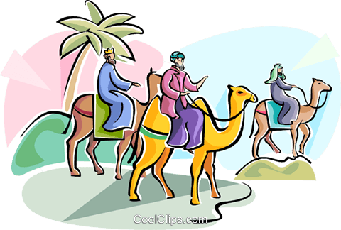 480x324 3 Wise Men Epiphany Royalty Free Vector Clip Art Illustration