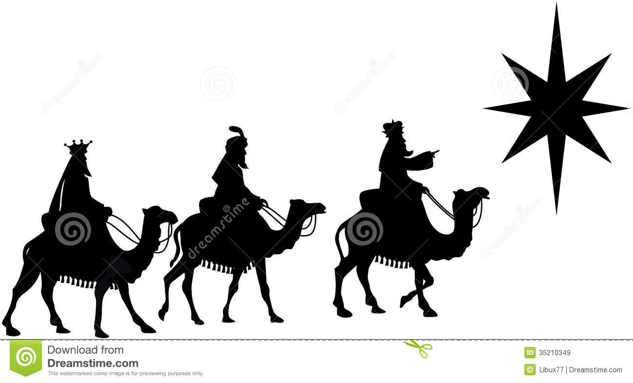 1300x786 Christmas Three Wise Men Clipart