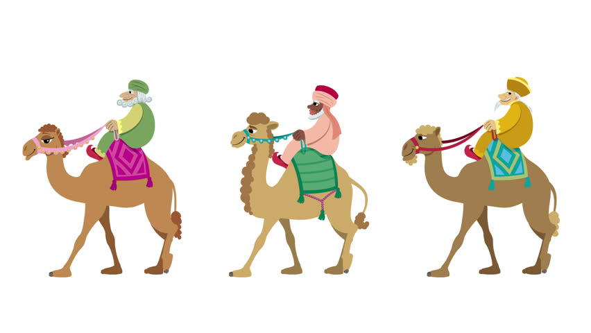 852x480 Three Wise Men Isolated The Three Wise Men And Their Camels