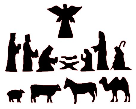 458x369 Top 84 Nativity Scene Clip Art