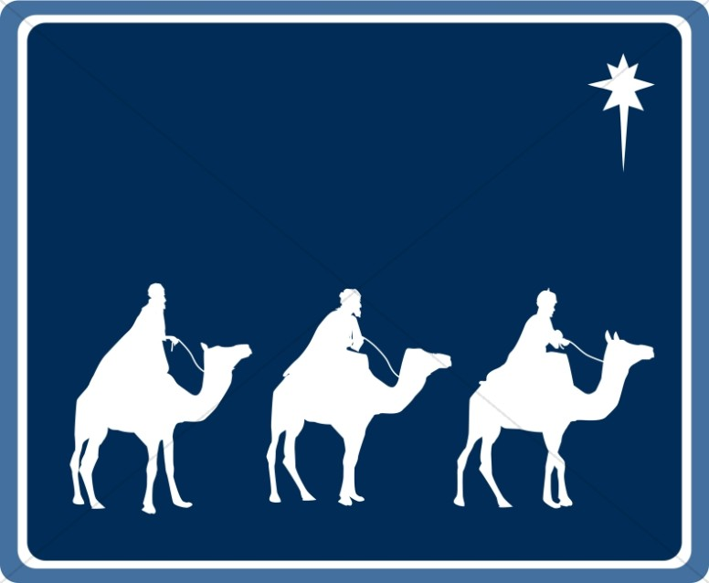 776x638 Wisemen's Journey Epiphany Clipart