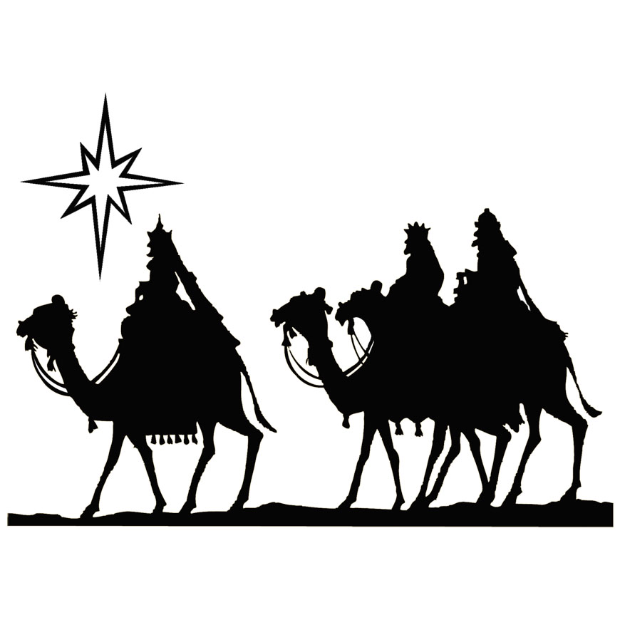 870x870 Vintage Wisemen Art Wisemen On Camels Christmas