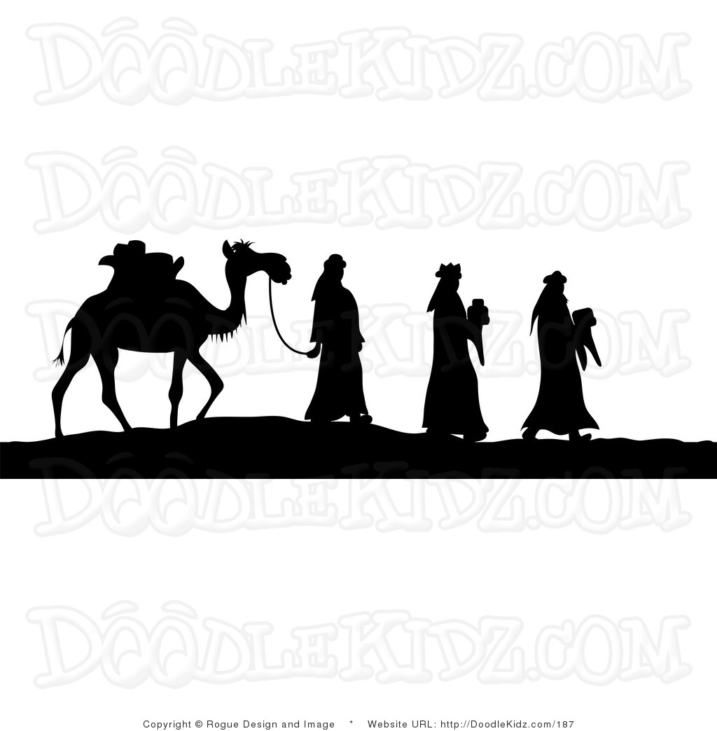 1024x1044 Wise Men Silhouette