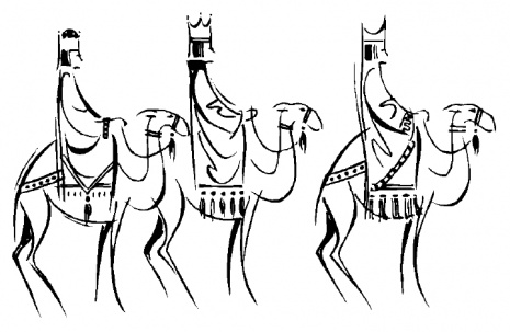 465x303 3 Wise Kings Clipart