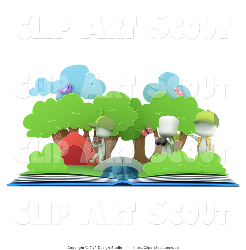 1024x1044 Clipart Of 3d White Kids And A Pop Up Book By Bnp Design Studio