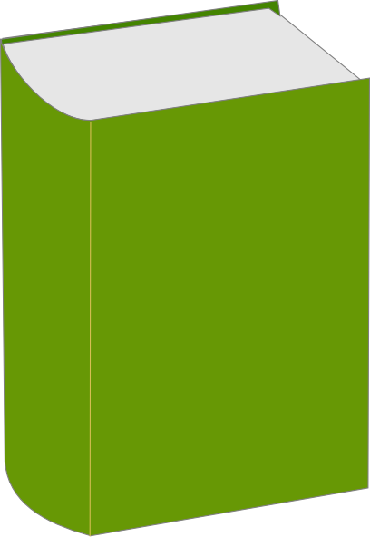 408x592 Green Book Clip Art