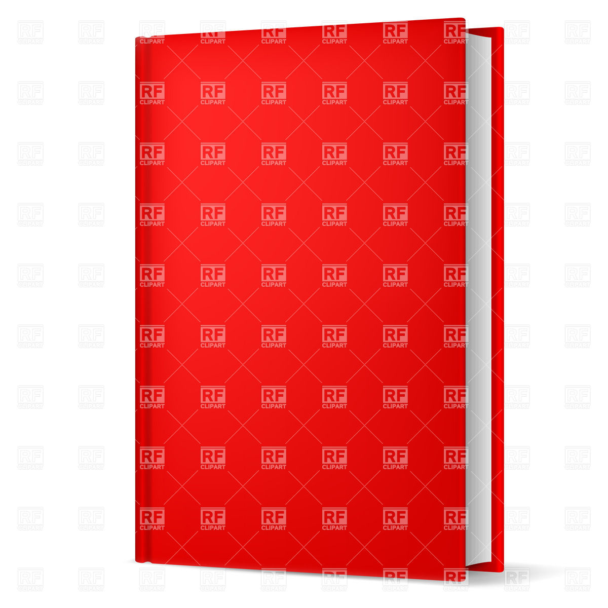 1200x1200 Hardback Red Book Royalty Free Vector Clip Art Image
