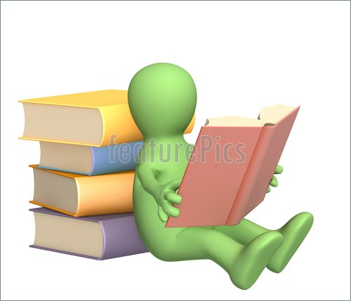 500x429 Image Of 3d Puppet, Reading The Book