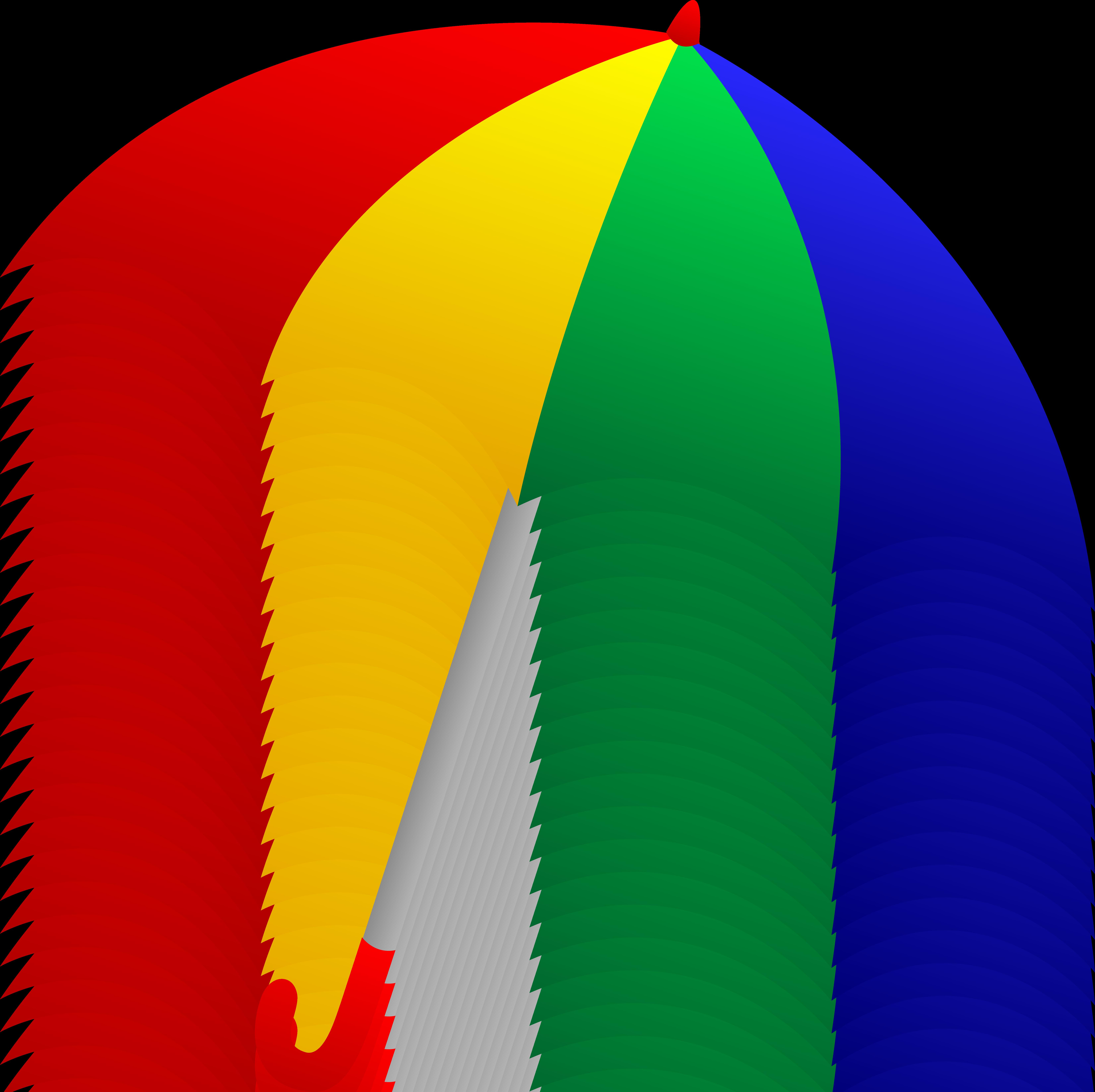 6607x6590 Red Umbrella Free Clip Art