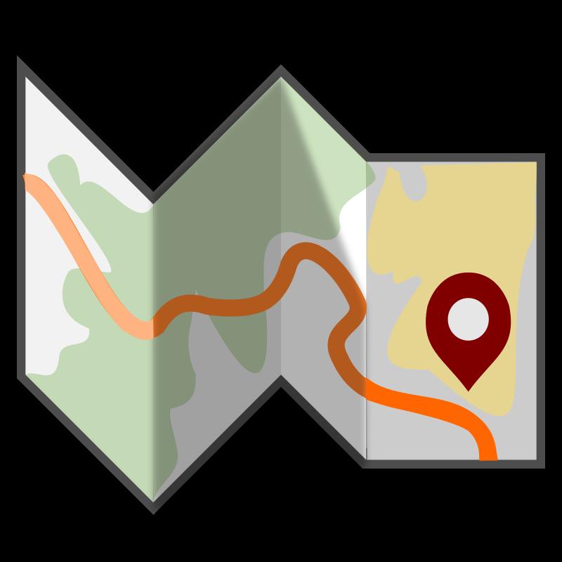 800x800 Road Map Clip Art