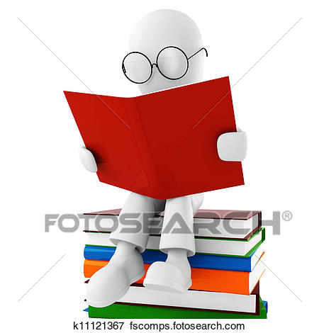 450x470 Stock Illustration Of 3d Man Reading A Book K11121367