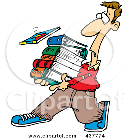 450x470 Student With Books Clipart