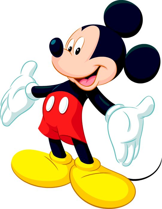 541x700 3d Clipart Mickey Mouse