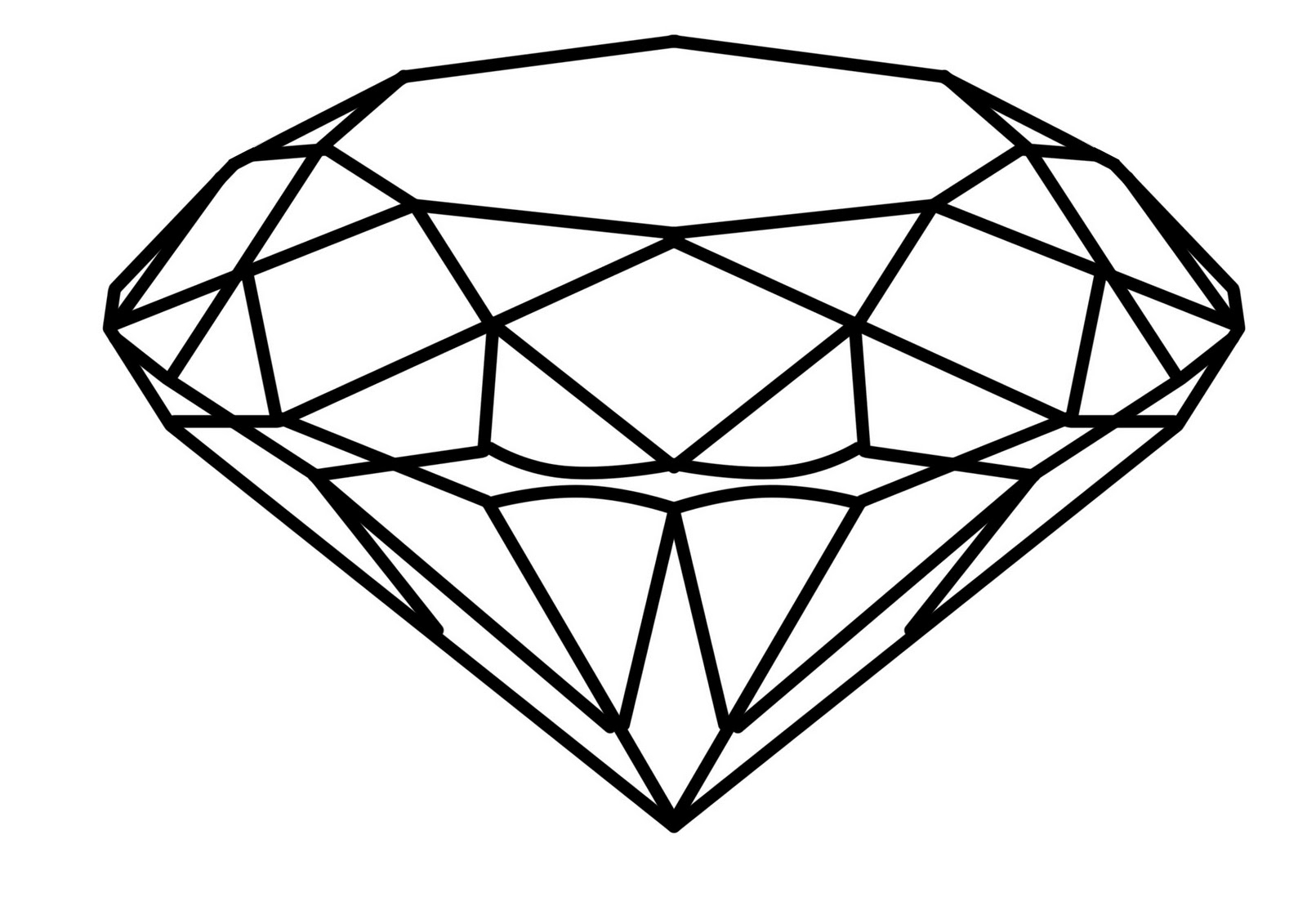1600x1131 Simple 3d Diamond Drawing How To Draw A Diamond Free Download