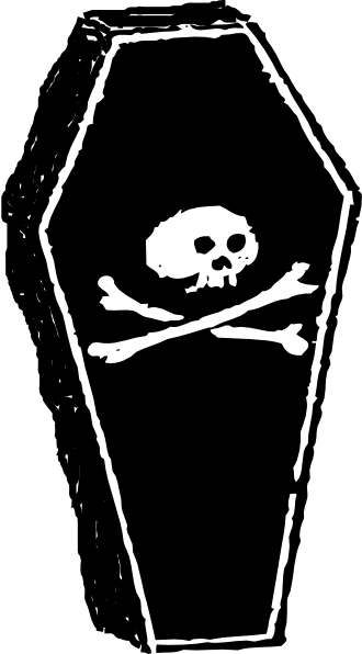 330x596 Skull Coffin 3d Clip Art