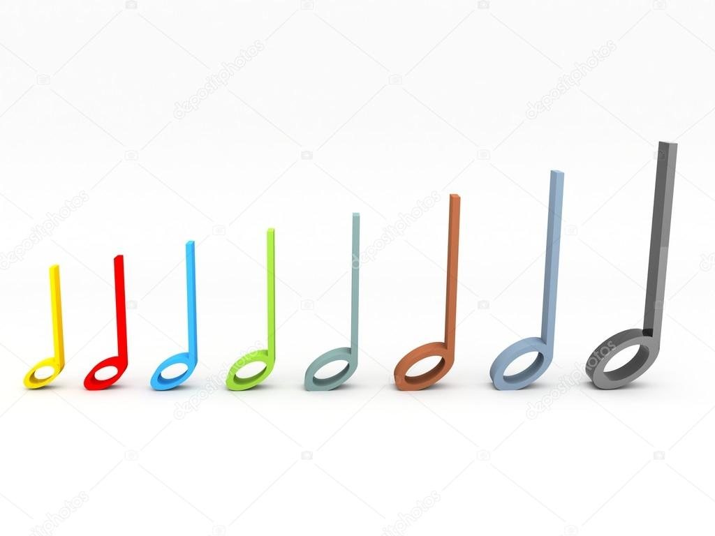 1024x768 Colorful 3d Musical Notes Stock Photo Imagerymajestic