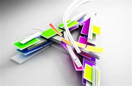 500x325 3d Colorful Alphabet A 3d Wallpapers