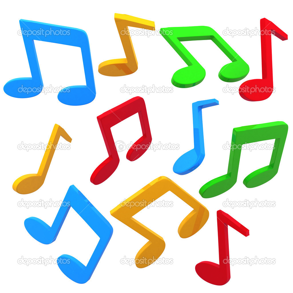 1024x1024 Images Of 3d Colorful Music Notes Wallpaper