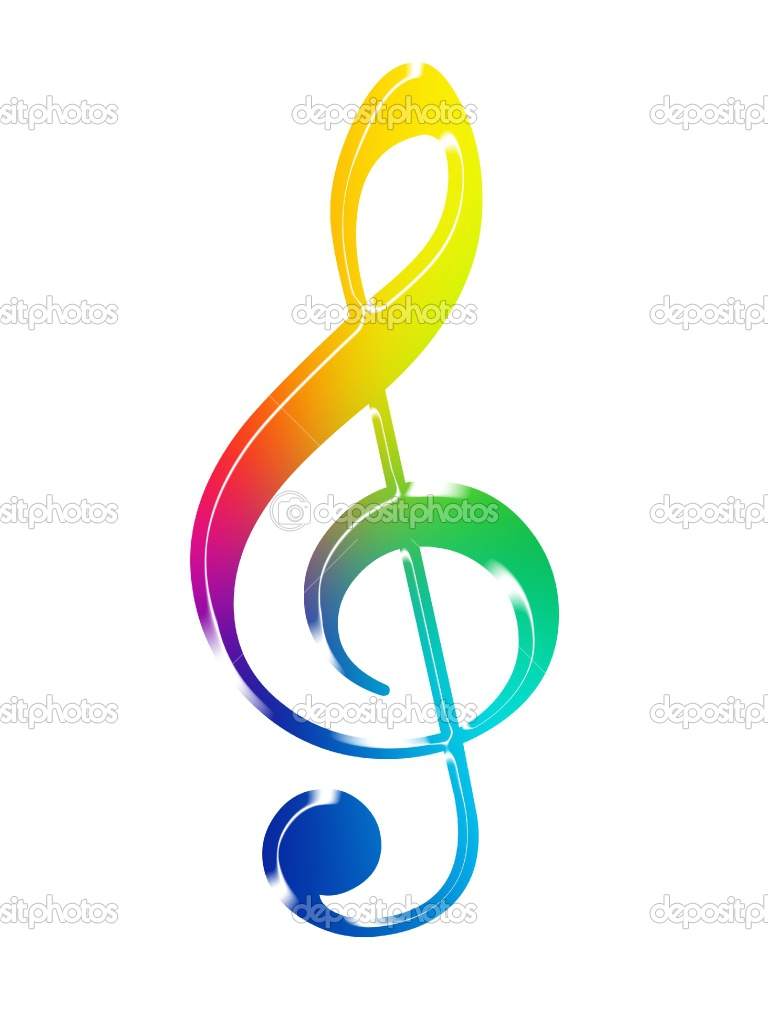 768x1024 Music Notes Clipart Colourful