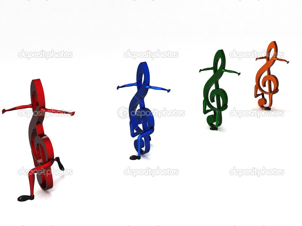 3d Colorful Music Notes Wallpaper: 3d Colorful Music Notes Wallpaper