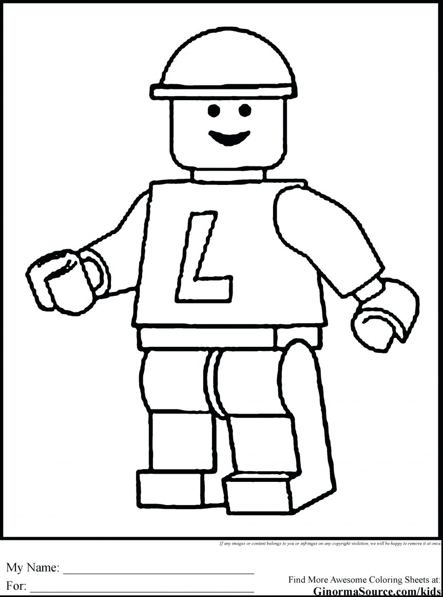 863x1162 Excellent Man Coloring Pages With Free And 3d Printable Lego
