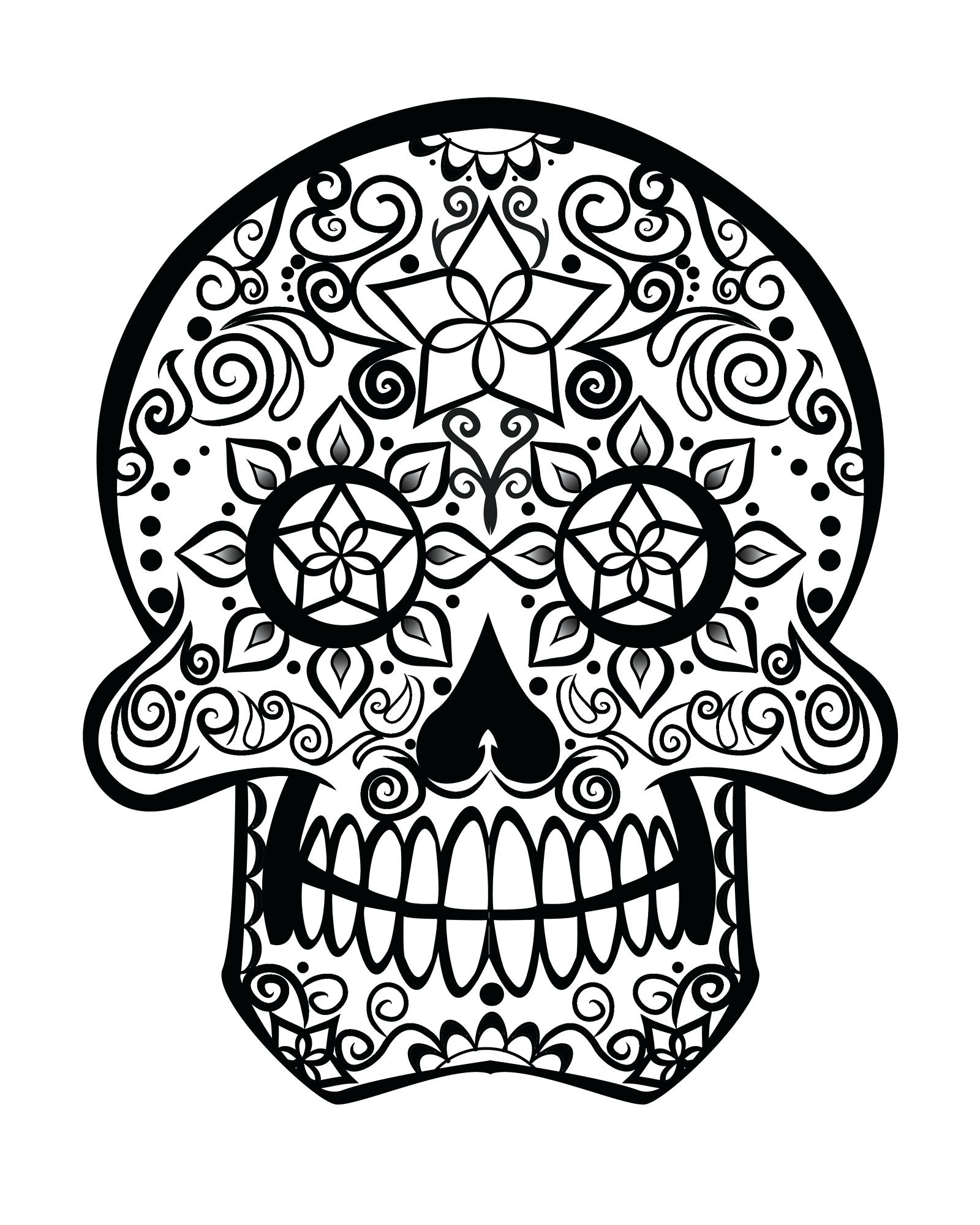 1600x2000 Free Printable Day Of The Dead Coloring Pages In Skull Mask 3d