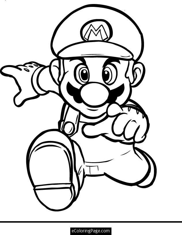632x817 Super Mario 3d Land Coloring Pages