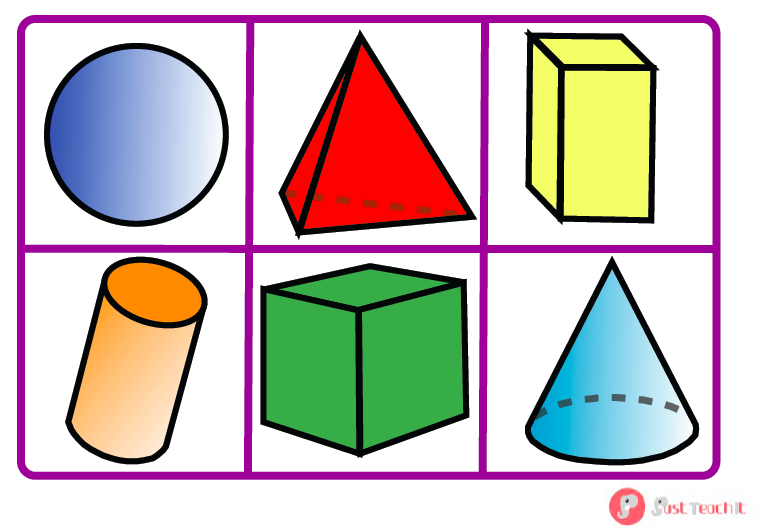 761x531 3d And 2d Shapes