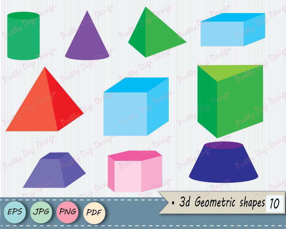 1000x800 3d Pyramid Shapes Clip Art