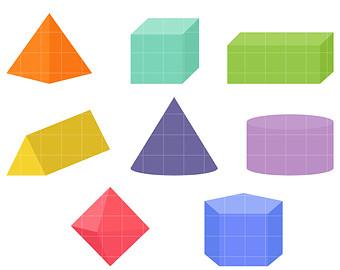 340x270 Happy Geometric Shapes Clip Art