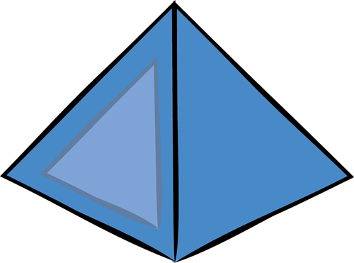 500x371 Pyramid Clipart 3d Shape