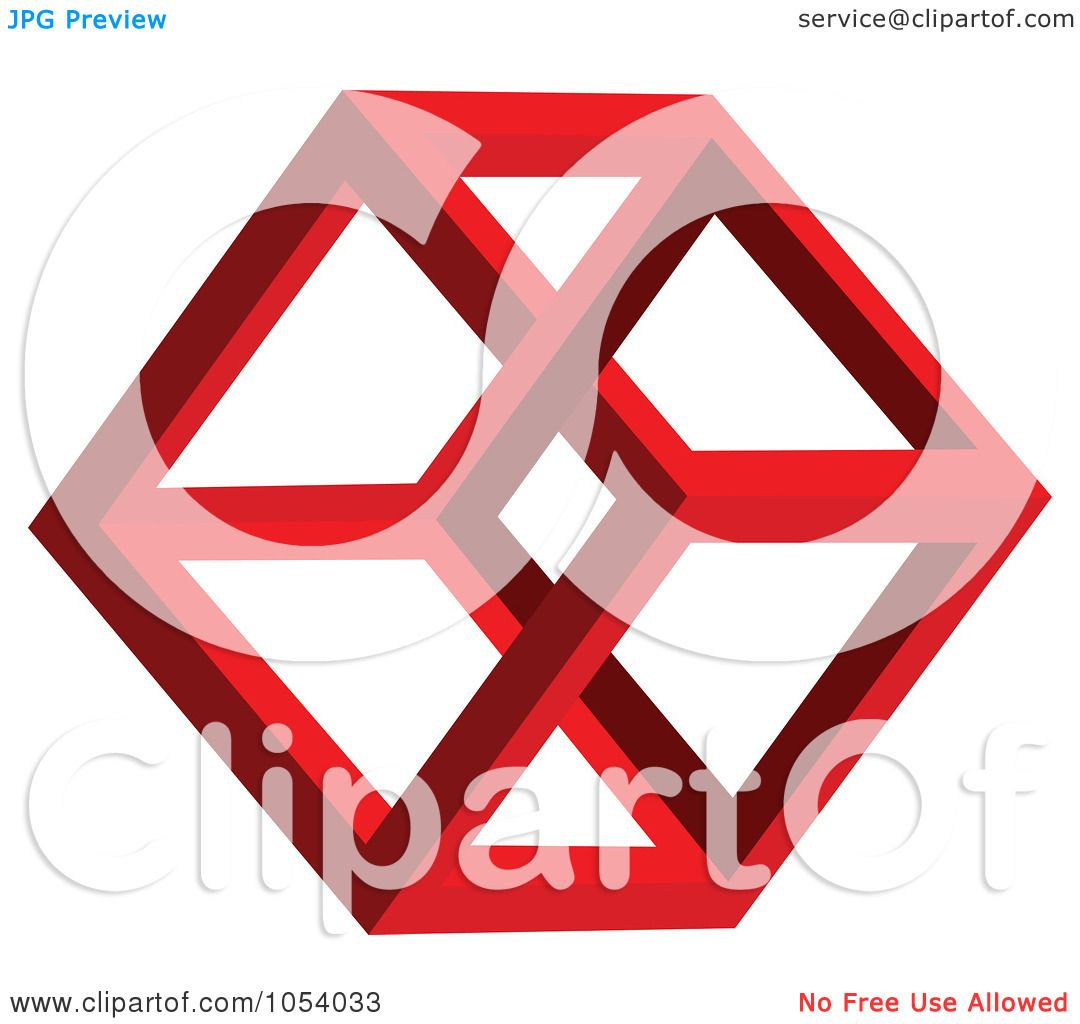 1080x1024 Royalty Free 3d Vector Clip Art Illustration Of A Red Hexagon