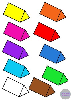 248x350 3d Shapes Clip Art 7 Shapes In 10 Colors By Stemthinking Tpt