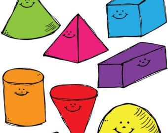 340x270 3d Smiling Shapes Clipart Set Clipart Panda