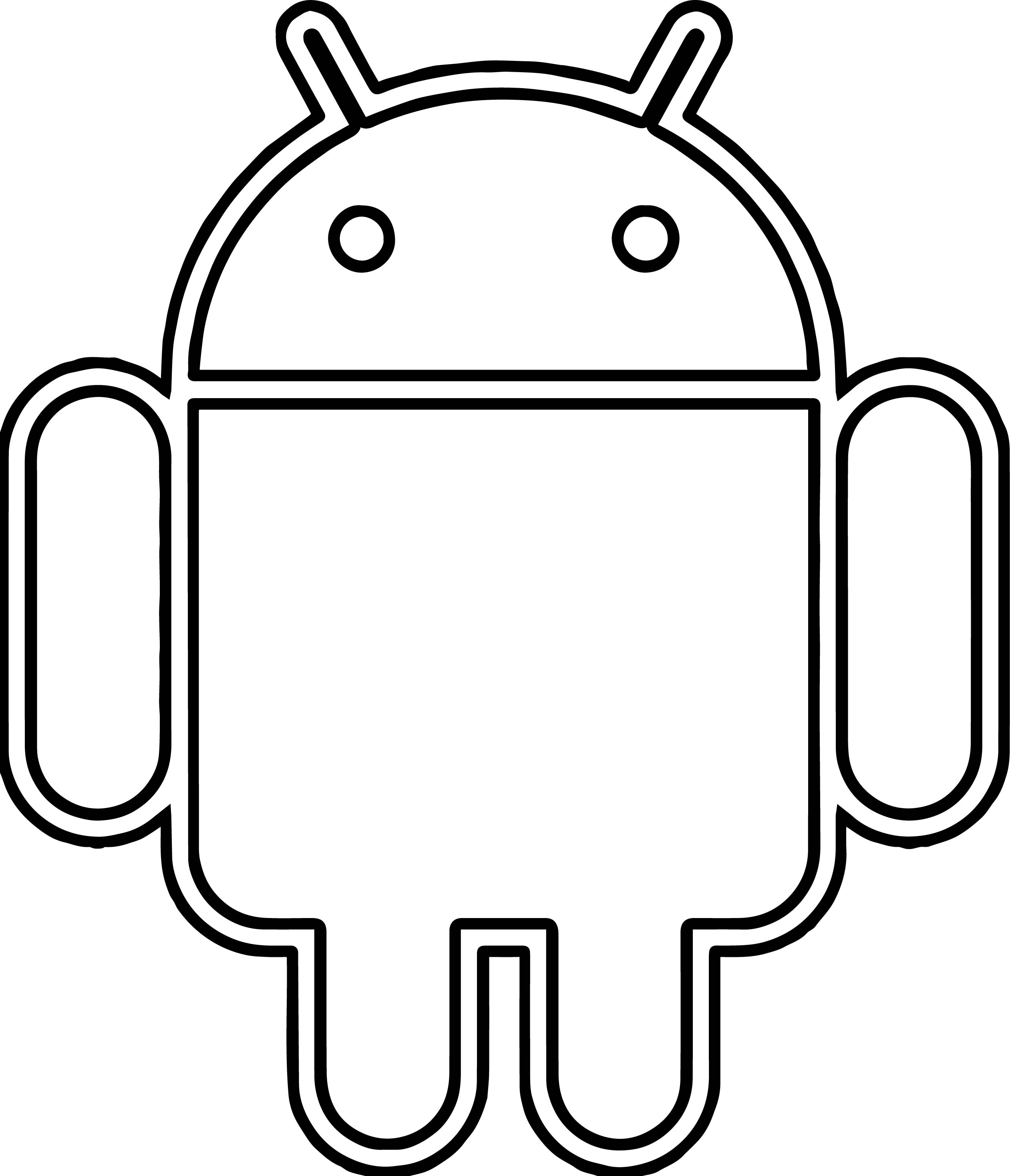 2522x2936 android robot coloring page wecoloringpage